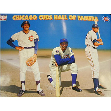 Chicago Cubs Hall of Famer's 14x22 Poster - Ferguson Jenkins, Ernie Banks and Billy Williams