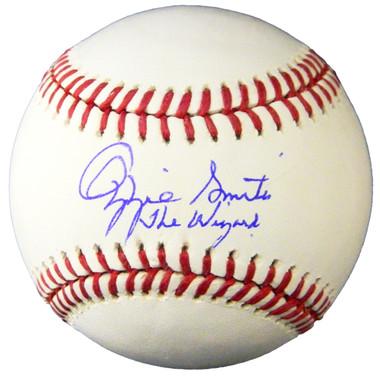 "Ozzie Smith Autogaphed MLB Baseball with""The Wizzard"" Inscription"