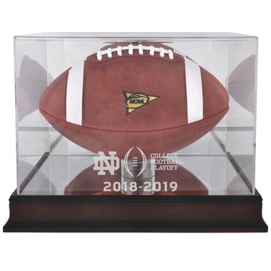 Notre Dame Fighting Irish 2018-19 CFP Mahogany Football Display Case
