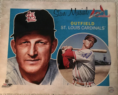 Stan Musial Autographed 16x20 Licensed Cooperstown Print