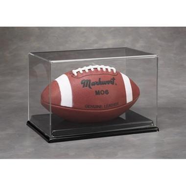 Acrylic Full Size Football Display Case - UV Protection - Clemson