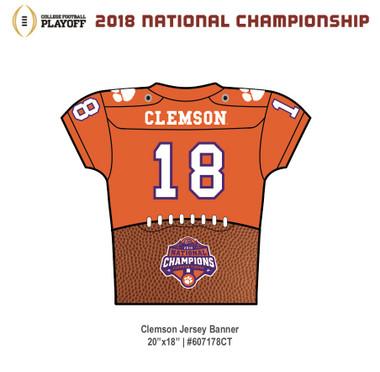 Clemson Tigers CFP Championship Jersey Banner