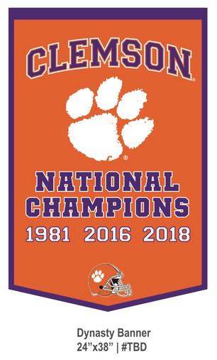 Clemson Dynasty Banner
