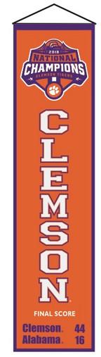 Clemson Tigers Heritage Banner - 32x8