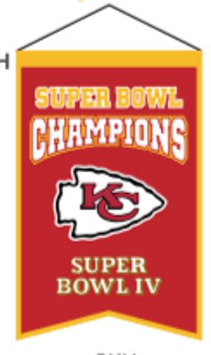 Kansas City Chiefs Champions Banner