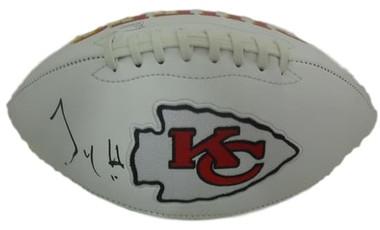 9f5989f3 Tyreek Hill Autographed Kansas City Chiefs White Logo Football JSA  Certified Authentic