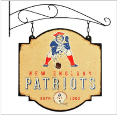 New England Patriots Tavern Sign - 16x16