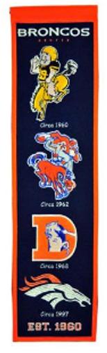 Denver Broncos Heritage Banner - 32x8