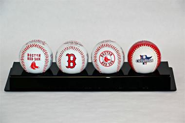 Boston Red Sox 2013 4-Ball Set Celebrates 8 World Series Titles