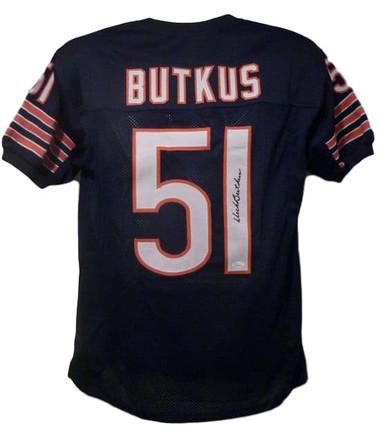 Dick Butkus Autographed Jersey - Chicago Bears Size XL Blue JSA