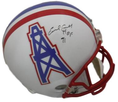 Earl Campbell Autographed Houston Oilers Full Size Replica Helmet HOF (in Black) JSA