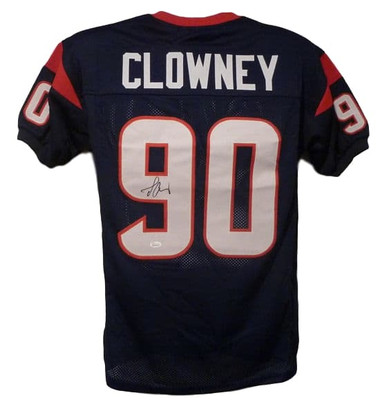 Jadeveon Clowney Autographed Houston Texans blue size XL jersey  JSA