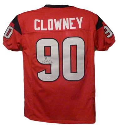 Jadeveon Clowney Autographed Houston Texans red size XL jersey JSA