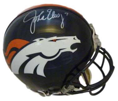 John Elway Autographed Denver Broncos Full Size Current Proline Helmet JSA