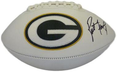 Brett Favre Autographed Green Bay Packers White Panel Football PSA/DNA