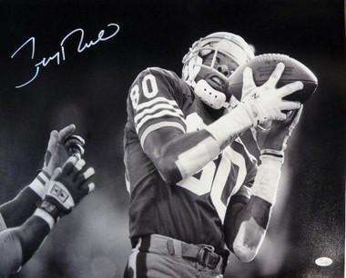 Jerry Rice Autographed San Francisco 49ers 16x20 Photo JSA