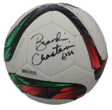 Brandi Chastain Autographed USA Soccer Adidas Soccer Ball JSA
