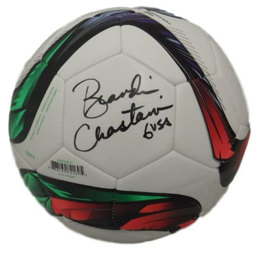Brandi Chastain Autographed USA Soccer Adidas Soccer Ball JSA