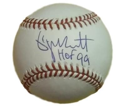 George Brett Autographed Kansas City Royals OML Baseball (HOF) Bec