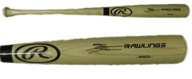 David Dahl Autogaphed Colorado Rockies Blonde Rawlings Bat - JSA Certified Authentic