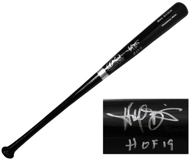 "Harold Baines Autographed Rawlings Black Big Stick Bat inscribed ""HOF'19"""