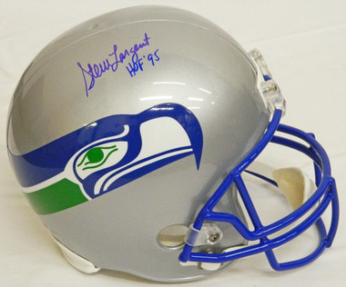 Steve Largent Signed Seahawks T/B Riddell Full Size Replica Helmet w/HOF'95