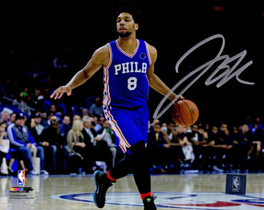 6f24a7e7 Jahlil Okafor Signed Philadelphia 76ers Dribbling Action 8x10 Photo ...
