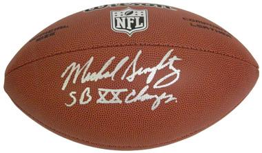 Mike Singletary Signed Wilson NFL Full-Size Football w/SB XX Champs