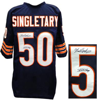 premium selection b19c6 71eae Mike Singletary Signed Navy Custom Throwback Jersey w/SB XX Champs