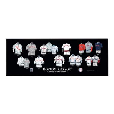 "Boston Red Sox Legacy Uniform Plaque 24""x8"""