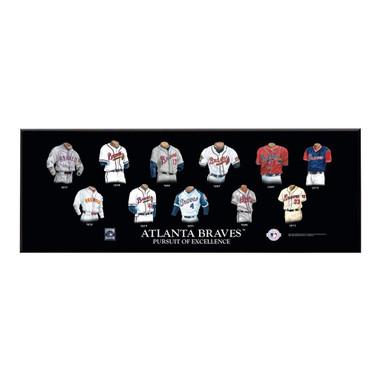 "Atlanta Braves Legacy Uniform Plaque 24""x8"""
