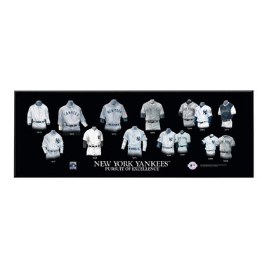 "New York Yankees Legacy Uniform Plaque 24""x8"""