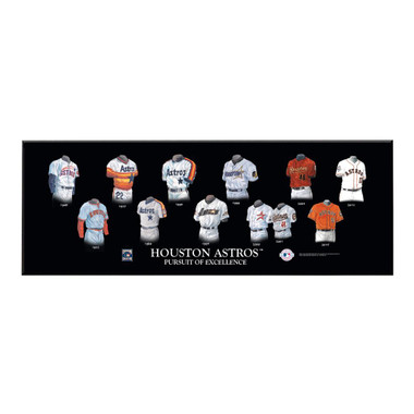 Houston Astros Legacy Uniform Plaque 24x8""
