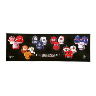 "Original Six NHL Legacy Uniform Plaque 24""x8"""