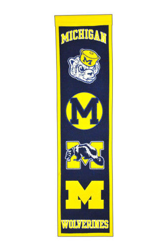 Michigan Wolverines Heritage Banner - 32x8