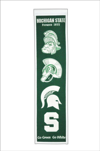 Michigan State Spartans Heritage Banner - 32x8