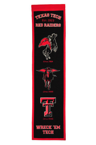 Texas Tech Red Raiders Heritage Banner - 32x8