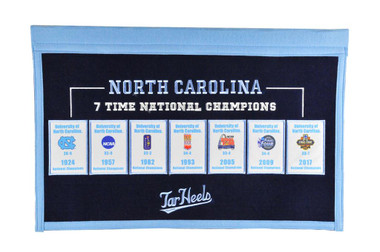 North Carolina Tar Heels Rafter Raiser Banner