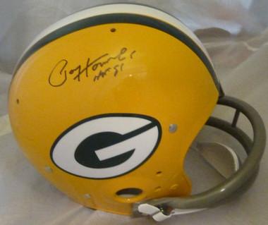 Paul Hornung Autographed Green Bay Packers Full sixe TK helmet w HOF Inscription JSA certified