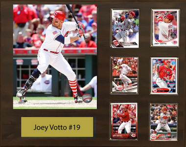 Joey Votto Cincinnati Reds 16x20 Plaque 8x10 Action Photo And 6 Baseball Cards