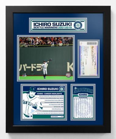 Ichiro Retirement Photo Plaque 18x22