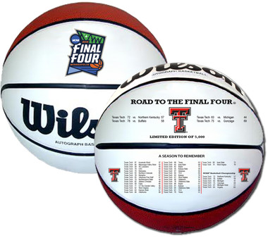 Texas Tech 2019 Final Four Basketball - Full Size Wilson NCAA Licensed