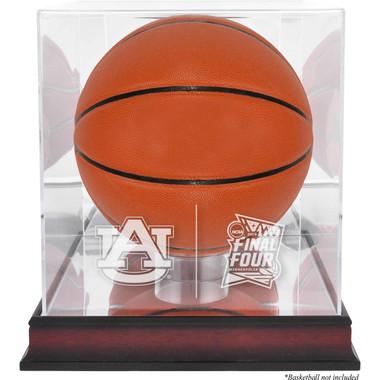 Auburn Tigers Logo Mahogany Base Basketball Display Case