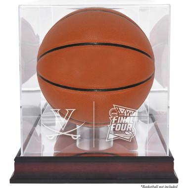 Virginia Cavaliers Logo Mahogany Base Basketball Display Case