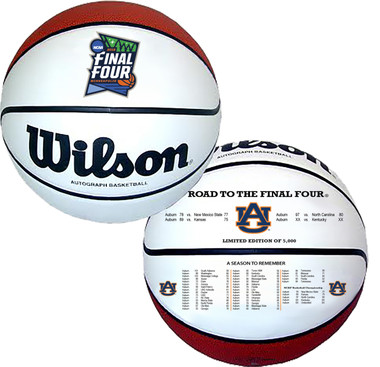 Auburn Tigers 2019 Final Four Basketball - Full Size Wilson NCAA Licensed