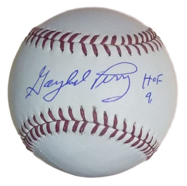 Gaylord Perry Autographed OML Baseball San Francisco Giants w/HOF 91
