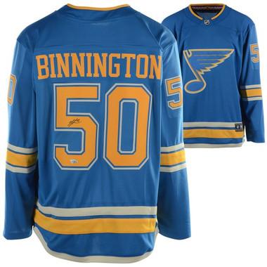 Jordan Binnington Autographed (BLUES/BLUE/ALT) Jersey