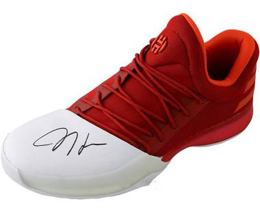 quality design ba6e2 cd81e James Harden Autographed Red Shoe