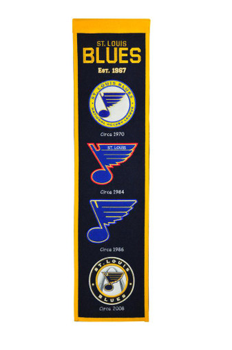 St. Louis Blues Heritage Banner - 32x8