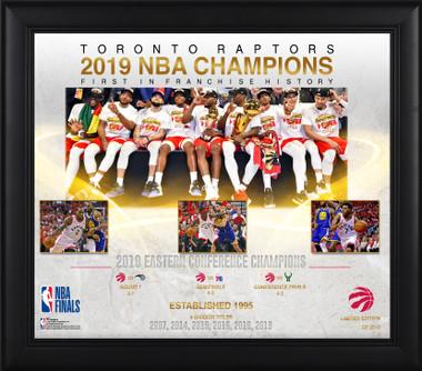 Toronto Raptors 2019 NBA Champions 15x17 Framed Piece